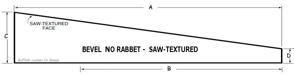 BEVEL CLAPBOARD PATTERN - NO RABBET