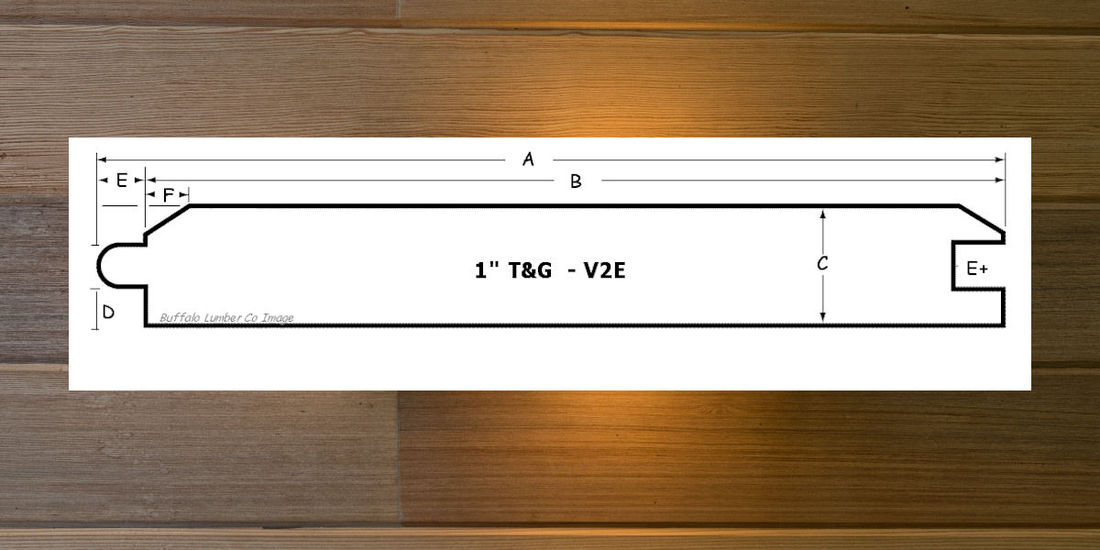 TONGUE & GROOVE PATTERN DIAGRAM - V2E BEVELED EDGE PROFILE