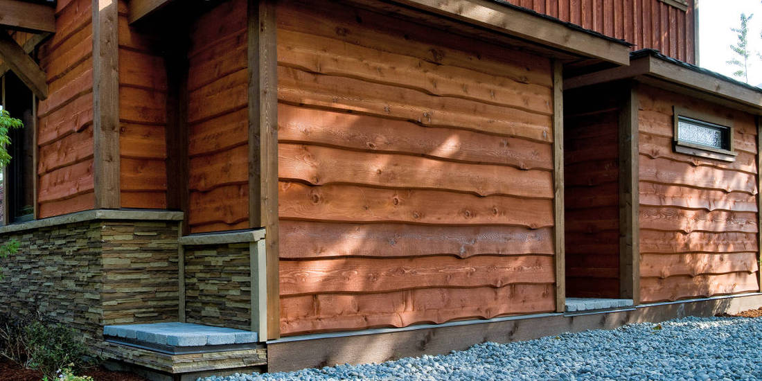 Wavy edge cedar siding prices wavy edge siding prices for Log slab siding