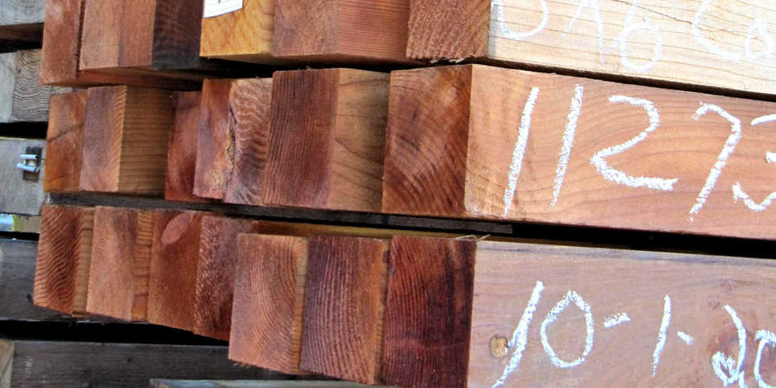 REDWOOD LUMBER ALL HEART GRADE 6X6 AIR DRYING FOR YEARS! AT MILL