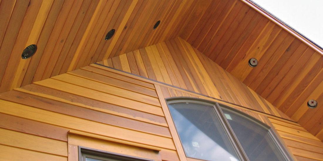 Redwood Home Bevel Siding Timberframe