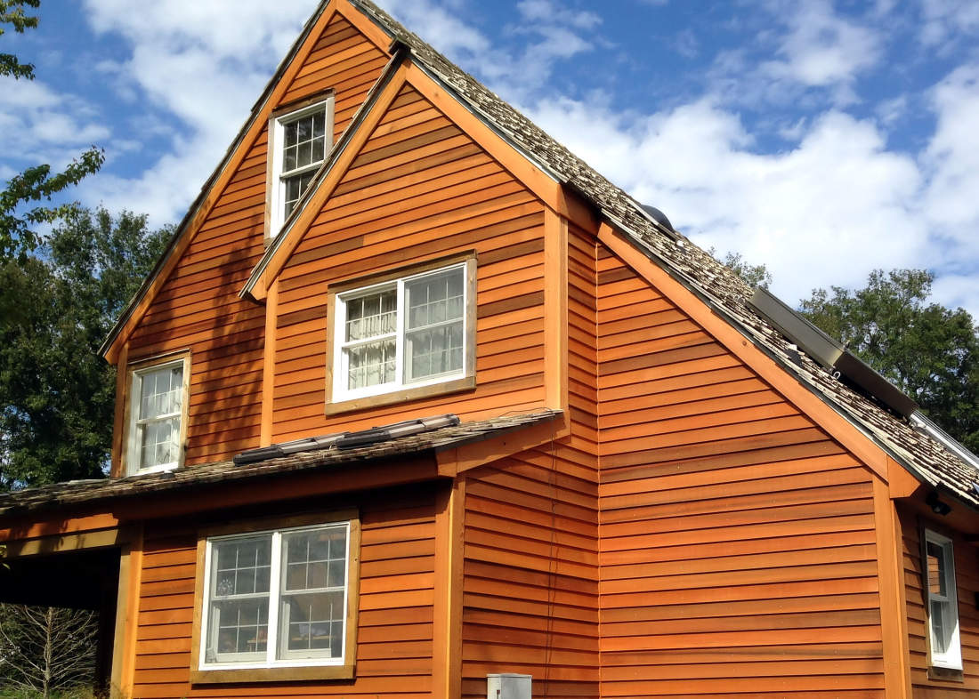 Cedar siding cedar siding prices patterns and pictures for Best exterior stain for cedar siding