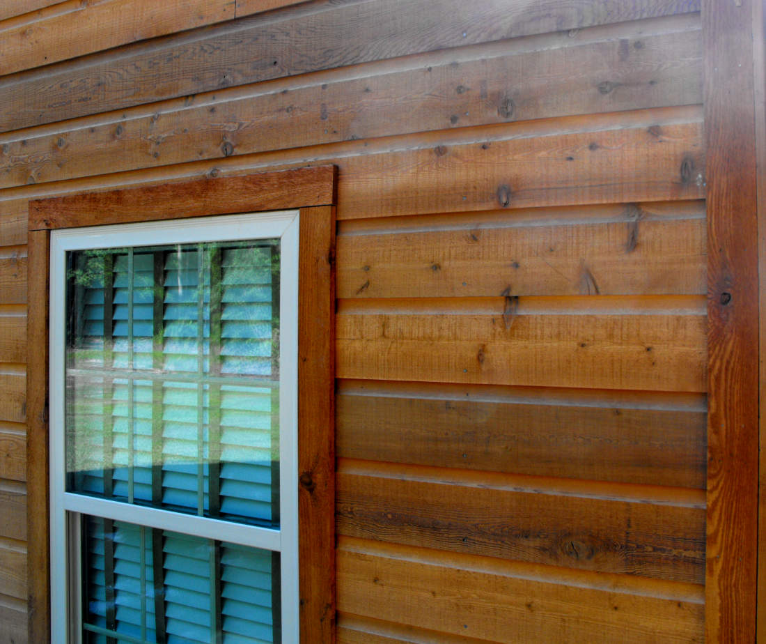 1x8 DUTCH LAP CEDAR SIDING INSTALLED ON RENOVATED BARN