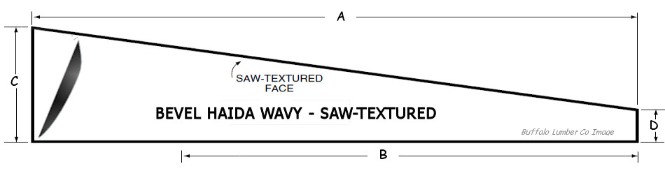 WAVY EDGE BEVEL SIDING PATTERN DIAGRAM