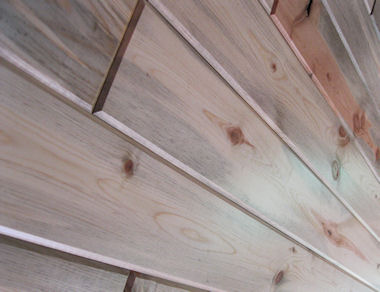 Interior Wood Paneling Blue Grandaddy Pine Close Up