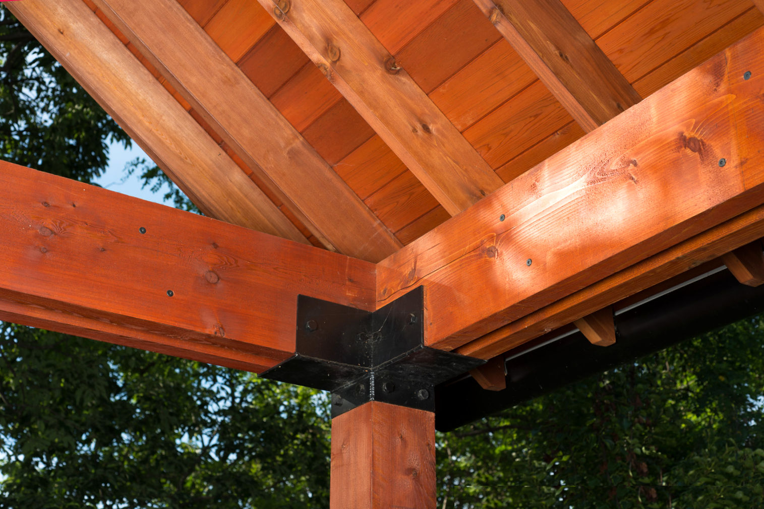 CEDAR LUMBER 3X6 CEDAR BEAMS supported by 6X6 CEDAR POSTS - TIMBER FRAME ACCENT TO CEDAR SIDED HOME IN NJ