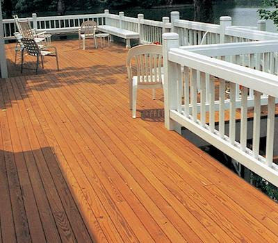 Timber OX® GREEN oil based semi-trans wood stain on cedar decking