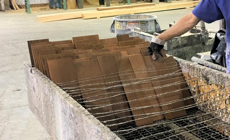 Factory Hand Stained Cedar Shingles - Step 4 - DRY SHINGLES IN CUSTOM BOX