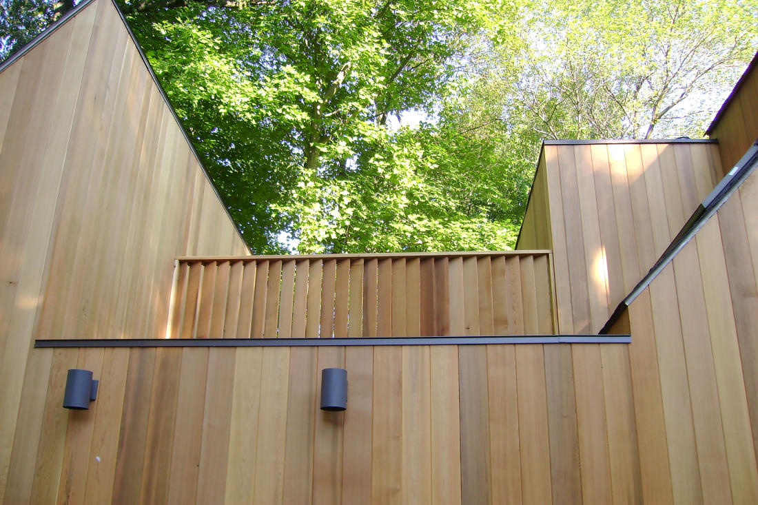 CLEAR TONGUE & GROOVE CEDAR SIDING VERTICAL INSTALL IN PA