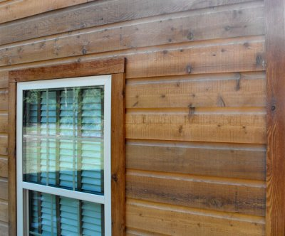 WRC Dutch Lap Cedar Siding up close
