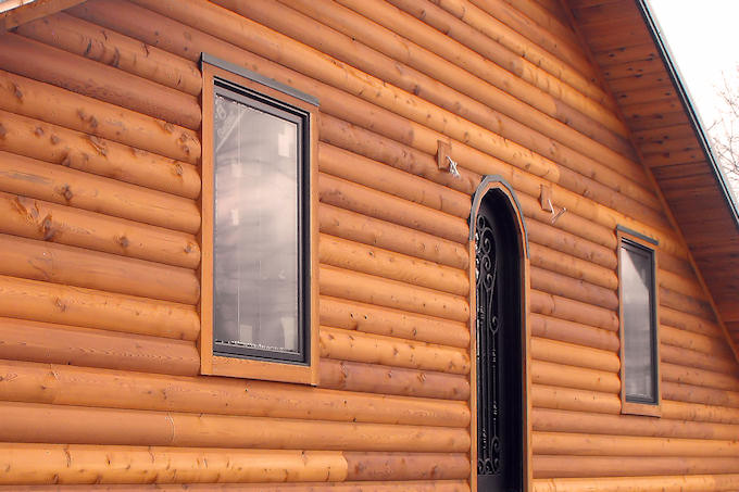 Cedar Log Siding Home Buffalo Lumber