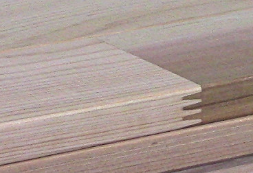 Western Red Cedar Finger Joinery on side