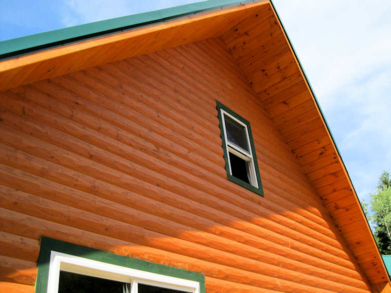 HEWN Pine Log Siding Corners Buffalo Lumber