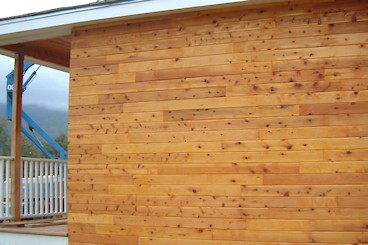 Discount Incense cedar siding installed