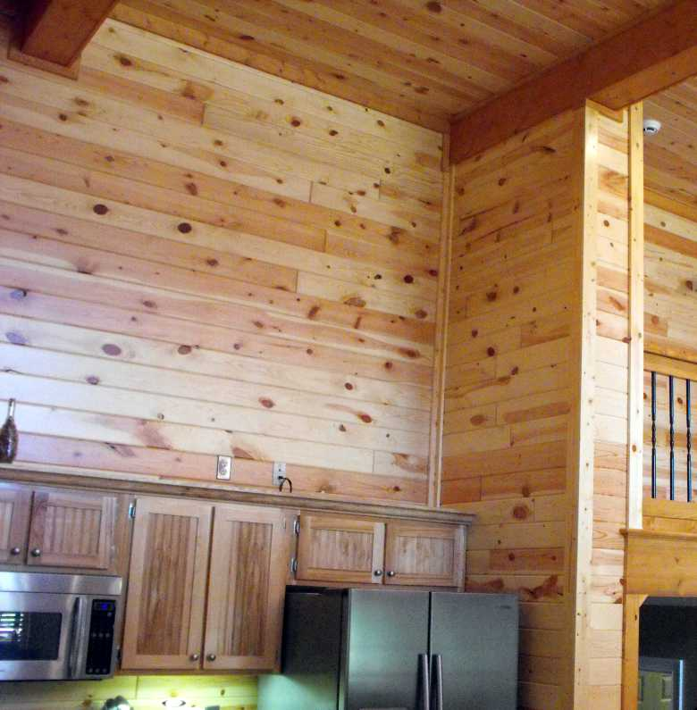 Genial Interior Pine Wood Paneling Clear