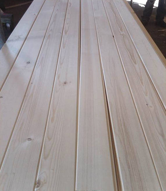 NEAR CLEAR Paneling Grade: D&BTR White Pine T&G wood paneling