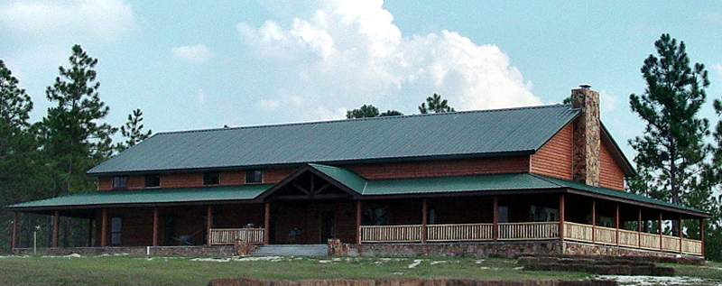 Pine Log Siding Ranch House Buffalo Lumber