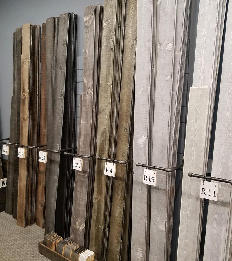 Tongue & Groove Pine Paneling Smoke Collection color samples