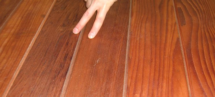 example of Clear All Heart Redwood mixed grain boards