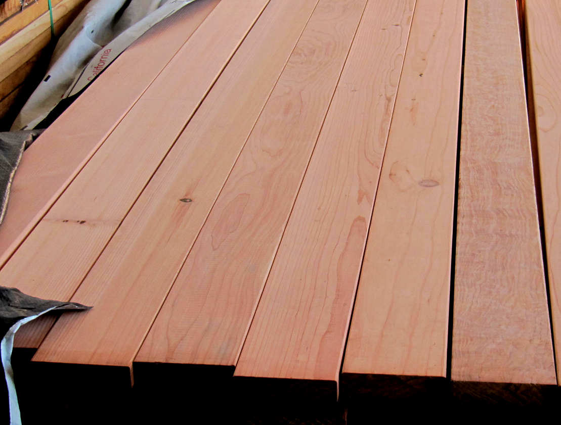 REDWOOD HEART B 2x6 DECKING