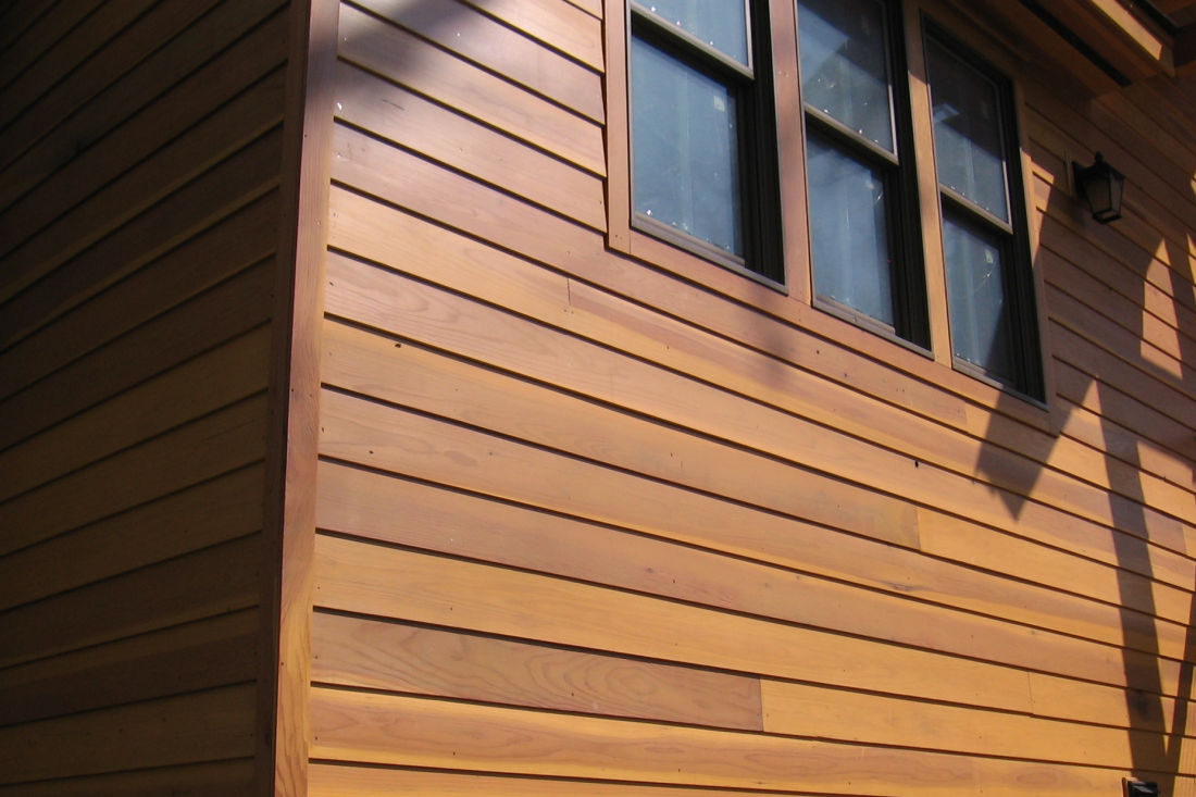 Redwood Home Bevel Siding Timberframe
