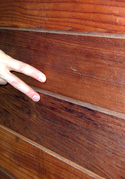 redwood siding CAH mixed grain compared