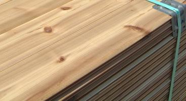 Cedar Tongue & Groove Unit of Siding