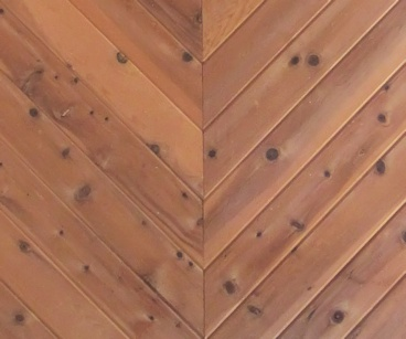 T&G V2E Paneling (Red Cedar STK with UV Finish) Diagonal Tongue and Groove Install