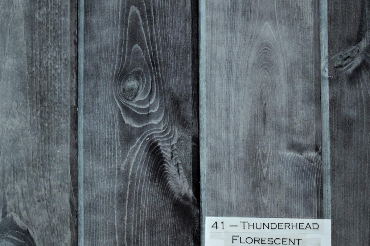 Wicked Wood Pine Paneling - THUNDERHEAD - Stain plus 2 Clear Coats  (BL21-41)